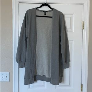 Sweatshirt cardigan